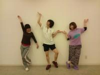 四回生3人のダンサーさんです。 左)松岡咲子 中)塙健太郎  右)重実紗果 このダンサーさんで踊ります!