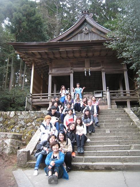 金峯神社に到達して記念撮影。