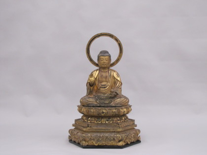 舞鶴市布敷自治会の弥勒菩薩像