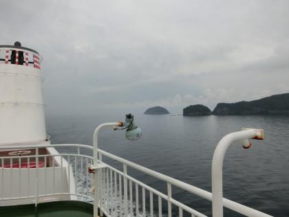 隠岐の島々が見えてきました!!!