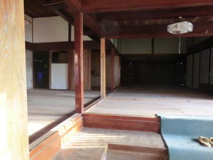 村上家住宅の修復中の様子