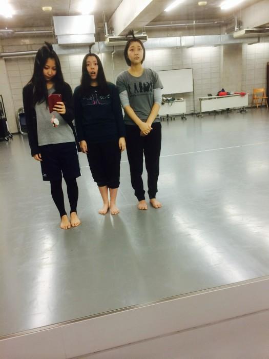 (左:さえちゃん、中:私、右:杏樹ちゃん)