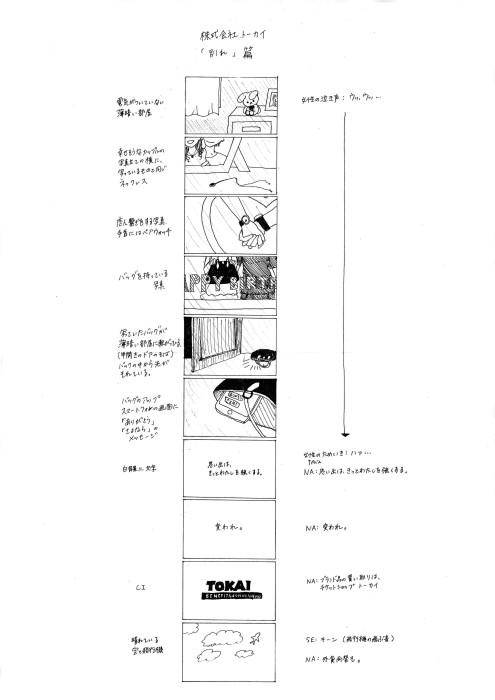 亀之園菜津美+作品 TV CM トーカイ「別れ」篇