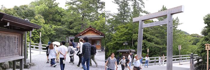 左:外宮(げくう)、右:内宮(ないくう)