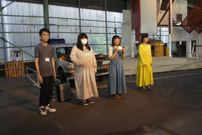 プロジェクトに携わってくれたスタッフ4名。左から吉岡大希、米山友葵、西村 歩、大葉美葵