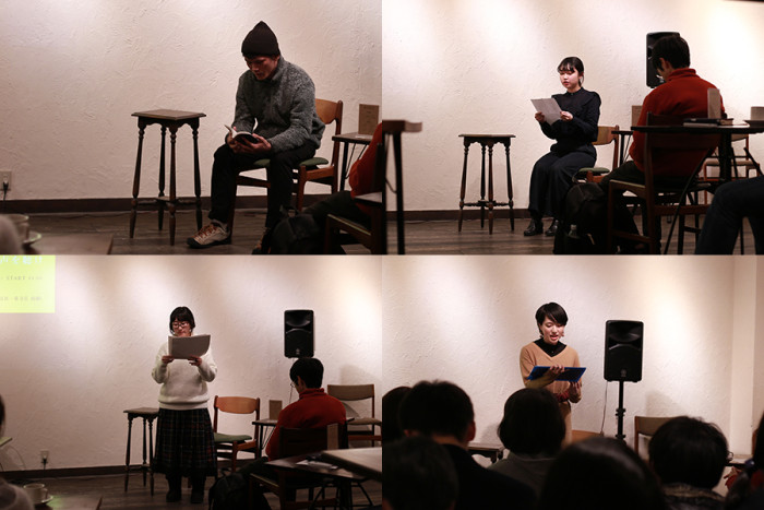 上左:4年生の石川くん、上右:4年生の加藤さん、下左:卒業生の吉原さん、下右:1年生の朝倉さん