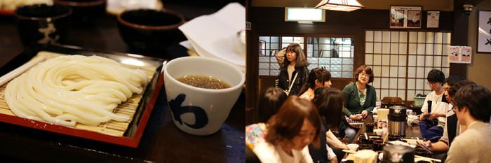 お昼には香川の代名詞・うどんを堪能しつつ、四国村を散策する前に先生とも打ち合わせを行っていました。