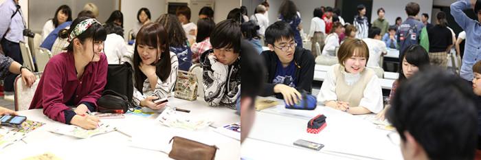 文芸学生は伝える「言葉」に、ASP学生は伝える「仕組み」に着目し、それぞれの違いが現れていて面白かったです。