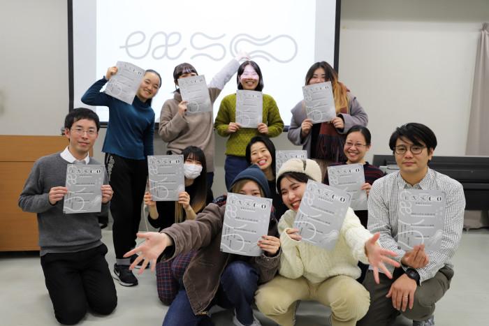 林田先生と山城先生、ARTZONEスッタフの学生たちも当日展覧会に参加します!
