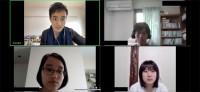 ブレイクアウトルームを活用した学生同士のインタビュー。木村先生からのレクチャーがあったのでしょうか。学生たち、真剣です。