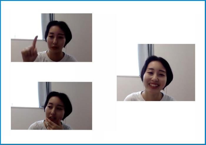 ZOOMでのインタビューの様子。表情豊かに丁寧に答えてくれました。