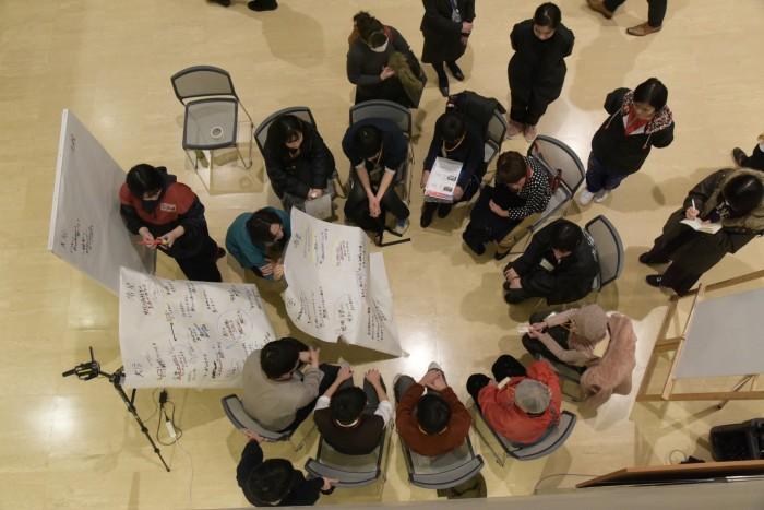 ACOP2(アートプロデュース表現演習)授業の一場面