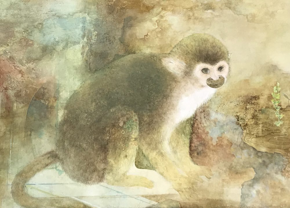 京都日本画には動物画の伝統が受け継がれています。卒制にも動物画の秀作が登場することは楽しみの一つです。
