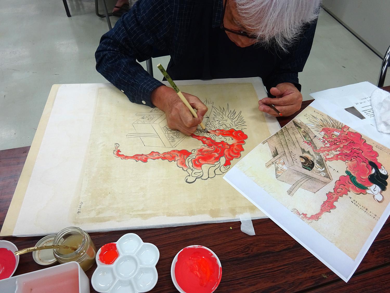 【日本画コース】『模写制作』を通して聴く、古人の声
