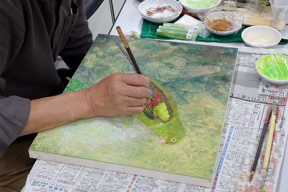 【日本画コース】下地から羽毛まで/京都スクーリング 「剥製制作」